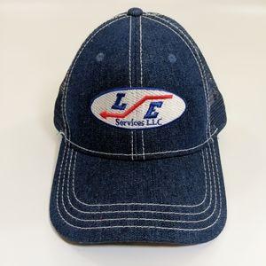 Vintage LE Services Denim Mesh Trucker Hat